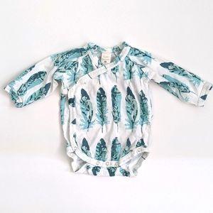 Kate Quinn feather kimono onesie